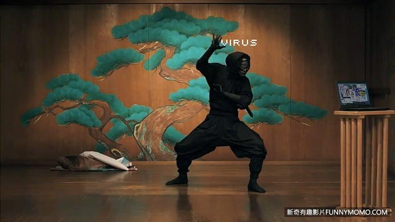 以忍者來詮釋病毒。