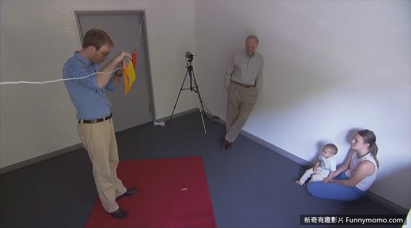 實驗人員刻意將道具掉在地上