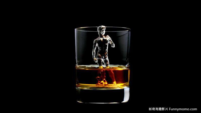 3D冰雕-大衛雕像