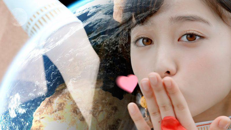 橋本環奈在廣告中送上一記飛吻