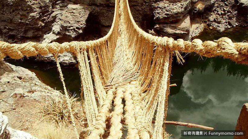 整座橋以野草所編織而成